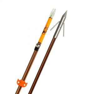 Hydro-Carbon Arrow w/Big Head Pro Point/Aqua Nock